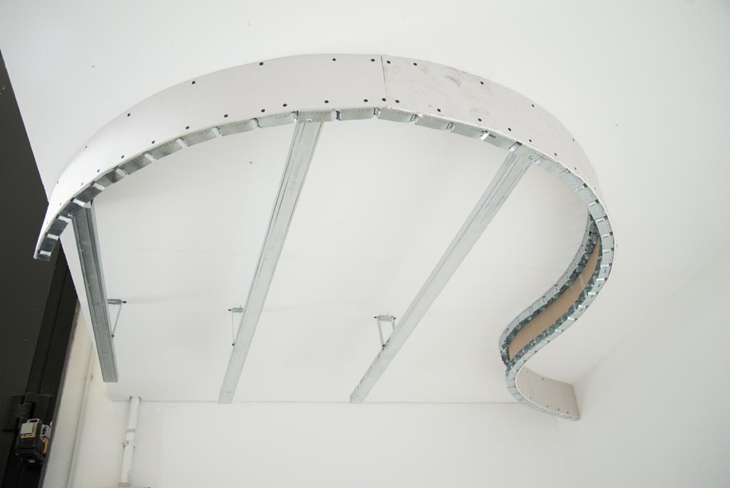 Curving Elements For A Ceiling